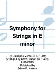 Symphony for Strings in E minor