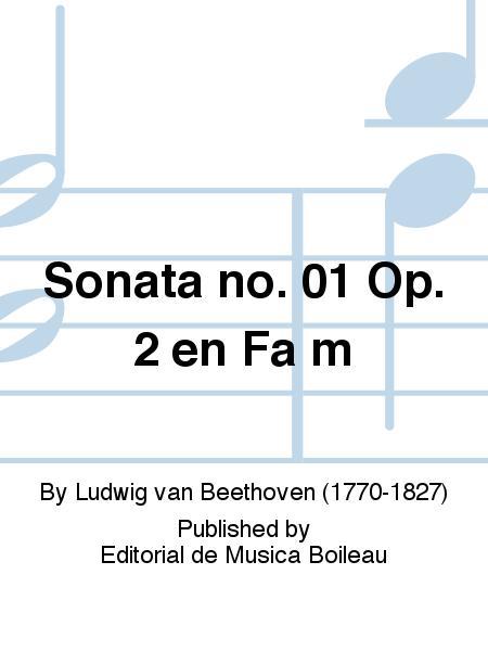 Sonata no. 01 Op. 2 en Fa m