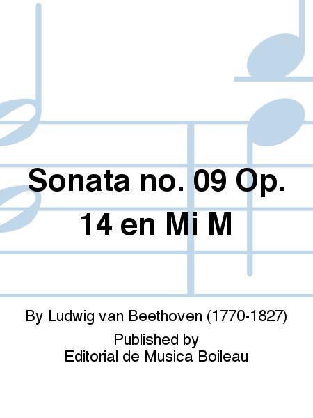 Sonata no. 09 Op. 14 en Mi M