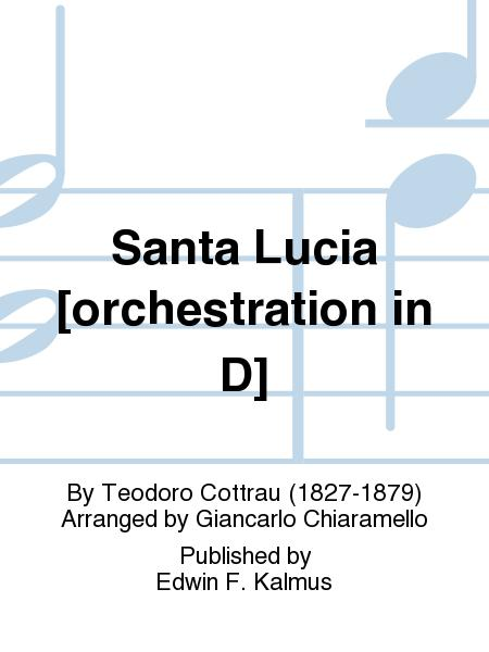 Santa Lucia [orchestration in D]