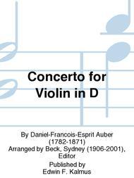 Concerto for Violin in D