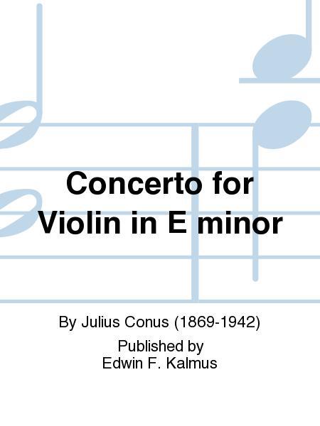 Concerto for Violin in E minor