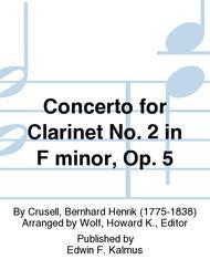 Concerto for Clarinet No. 2 in F minor, Op. 5