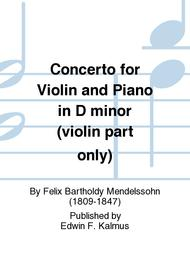 Concerto for Violin and Piano in D minor (violin part only)