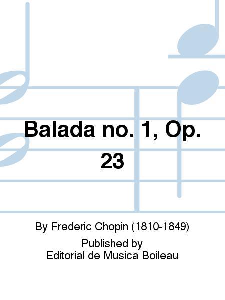 Balada no. 1, Op. 23