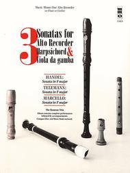 3 Sonatas for Alto Recorder, Harpsichord & Viola da Gamba