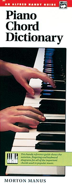 Piano Chord Dictionary Sheet Music By Morton Manus Sheet Music Plus