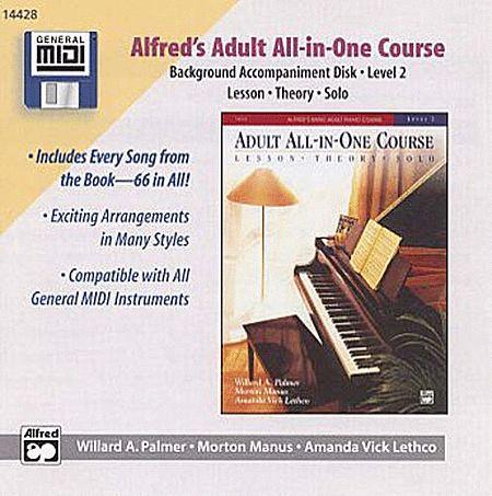 Alfred's Adult All-in-One Course - Level 2 (Background Accompaniment Disks)
