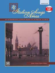 26 Italian Songs and Arias - Medium Low Voice (Book/CD)