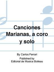Canciones Marianas, a coro y solo