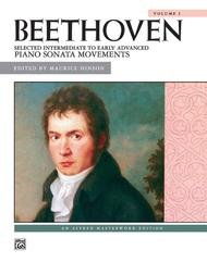 Beethoven -- Selected Intermediate to Early Advanced Piano Sonata Movements, Volume 1