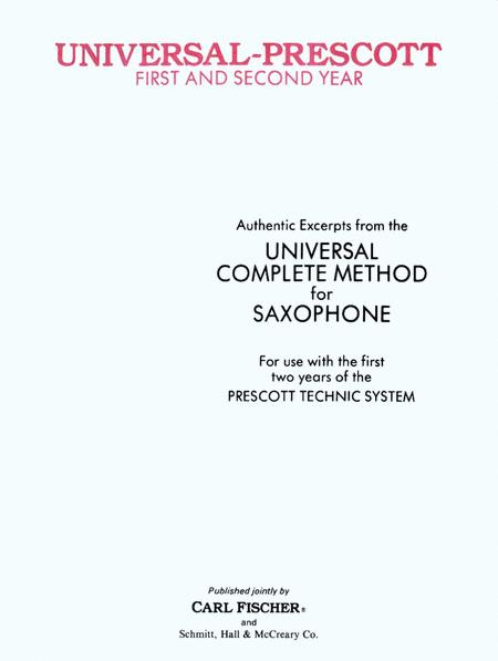 Authentic Excerpts From the Universal Complete Method For Saxophone