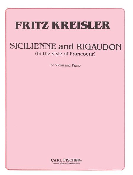 Sicilienne and Rigaudon