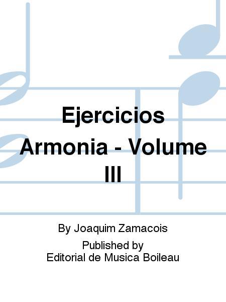 Ejercicios Armonia - Volume III