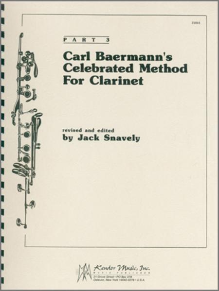 Carl Baermann's Celebrated Method For Clarinet, Part 3