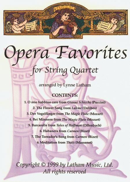 Opera Favorites for String Quartet