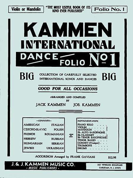 Kammen International Dance Folio 1 Guitar Or Violin Mandolin