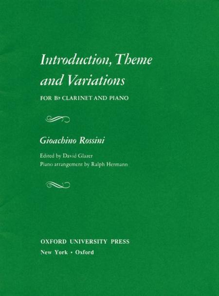 Introduction Theme and Variations for Bb Clarinet and Piano