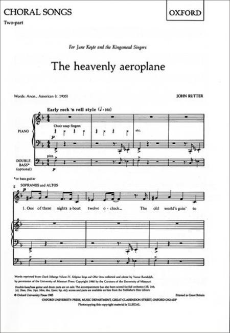 The heavenly aeroplane
