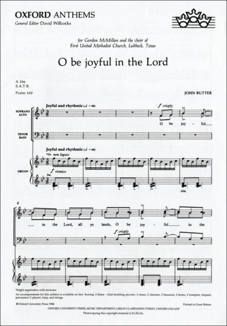 O Be Joyful in the Lord