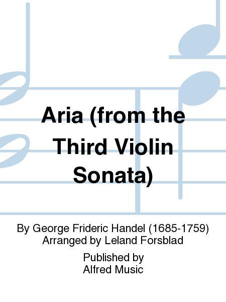 Aria (from the Third Violin Sonata)