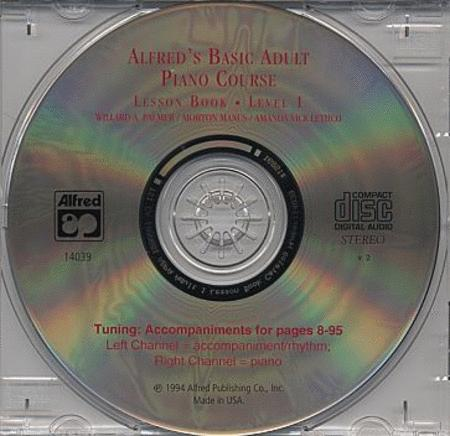 Alfred's Basic Adult Piano Course - CD (Lesson Book, Level 1)