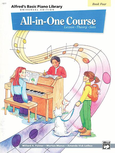 Alfred's Basic Piano Library All-in-One Course - Book 4 (Universal Edition)