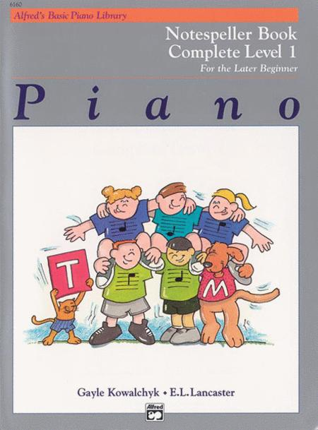 Alfred's Basic Piano Library Notespeller Complete, Book 1