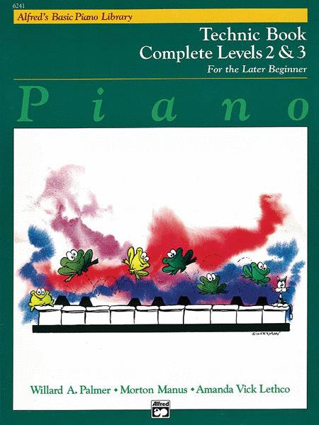 Alfred's Basic Piano Library Technic Complete, Book 2 & 3