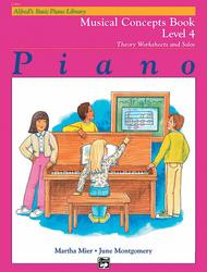 Alfred's Basic Piano Library Musical Concepts, Book 4