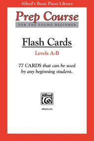Alfred's Basic Piano Prep Course Flash Cards, Book A & B