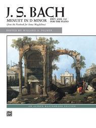 Menuet in D minor, BWV Anh. 132