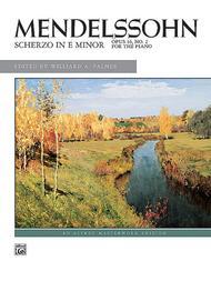 Mendelssohn: Scherzo in E Minor, Opus 16, No. 2
