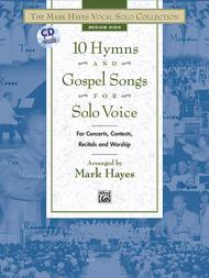 10 Hymns and Gospel Songs for Solo Voice - Medium High (Book/CD)