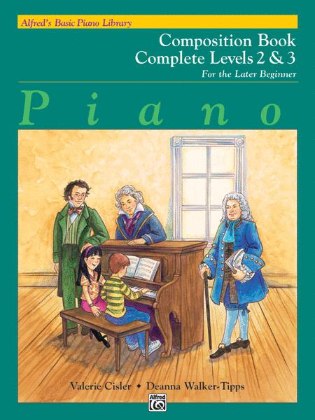 Alfred's Basic Piano Library Composition Book Complete, Book 2 & 3