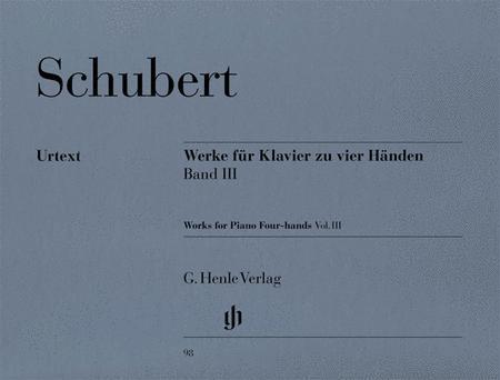 Werke fur Klavier zu vier Handen - Band III