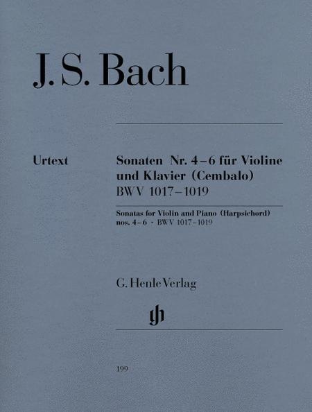 Sonatas no. 4 - 6 for Violin and Piano (Harpsichord) BWV 1017- 1019