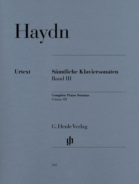 Complete Piano Sonatas, Volume III