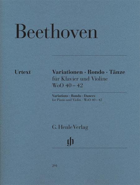Variations, Rondo, Dances for Piano and Violin