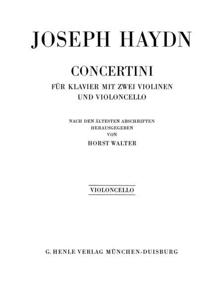 Concertini for Piano (Harpsichord) with Two Violins and Violoncello