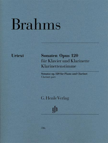 Sonatas for Piano and Clarinet (or Viola) op. 120, Nos. 1 and 2 (Clarinet Part only)