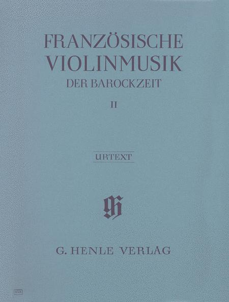 French Violin Music of the Baroque Era Band 2