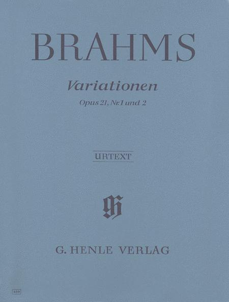 Variations Op. 21 Nos. 1 and 2