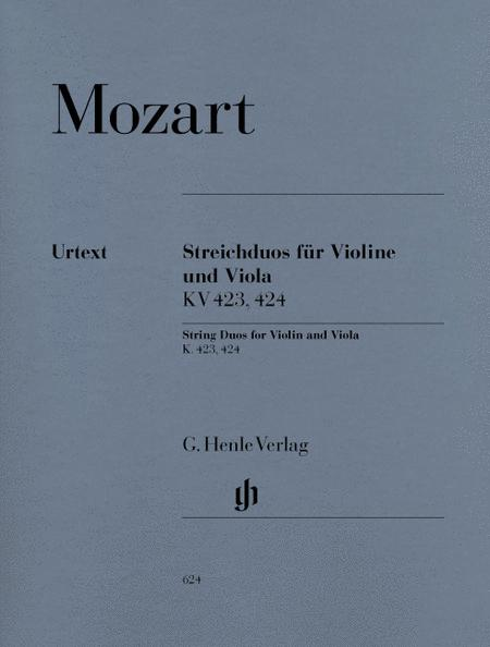 String Duos for Violin and Viola K423, 424