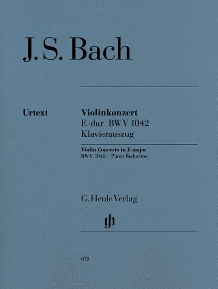 Concerto for Violin and Orchestra E major BWV 1042