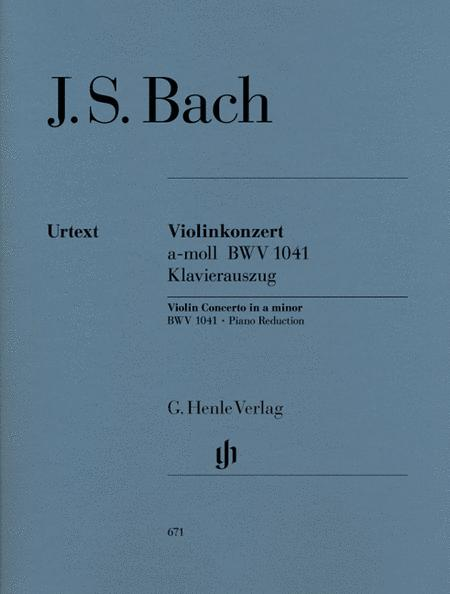 Concerto for Violin and Orchestra a minor BWV 1041