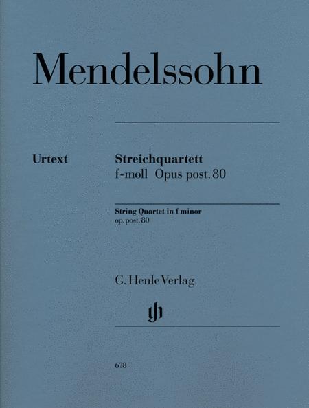 String Quartet in f minor Op. post. 80