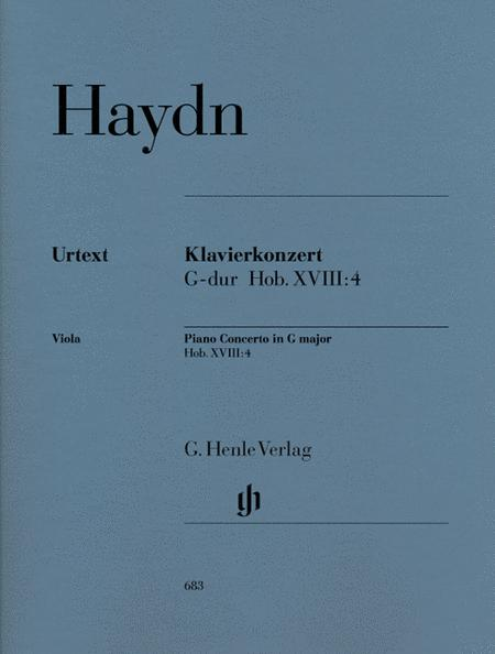 Concerto for Piano (Harpsichord) and Orchestra G Major Hob.XVIII:4