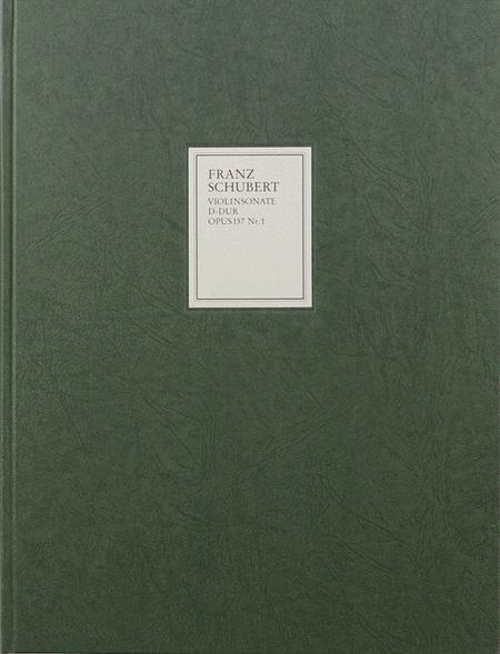 Sonata (Sonatina) for Piano and Violin in D Major Op. 137, No. 1 D384