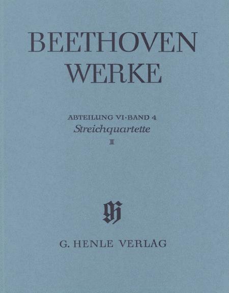String Quartet Op. 59, 74, 95